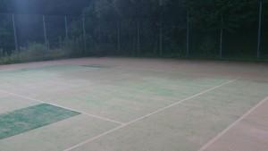 うぐいす池公園テニスコートの影