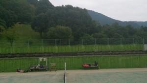 テニスコートの観客席