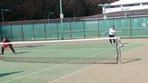 テニスプレイ中